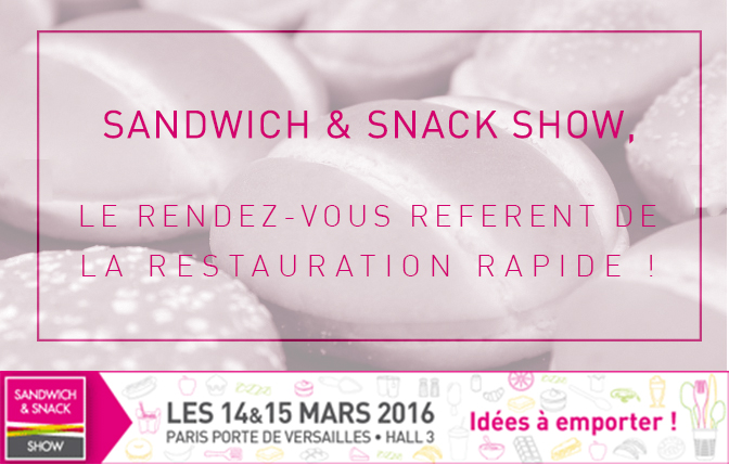 V nement for Salon sandwich and snack show